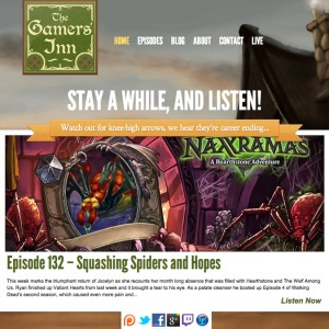 Gamers' Inn Website - Version 1, Launched in December 2011