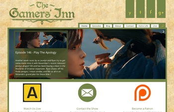 The Gamers' Inn Website