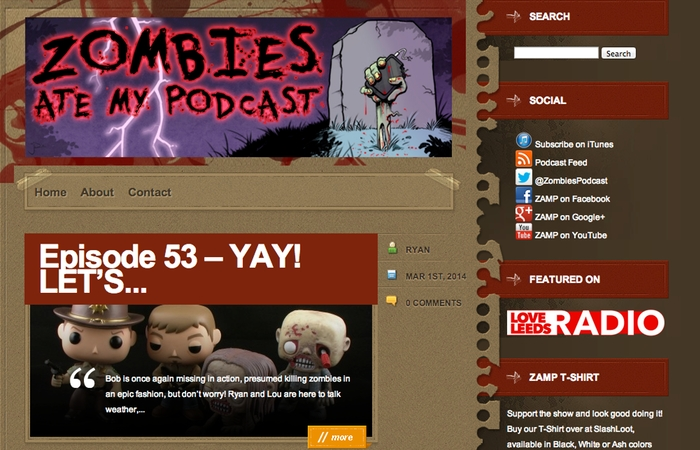 Zombies Ate My Podcast Home Page