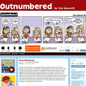 Outnumbered Comic with the new design