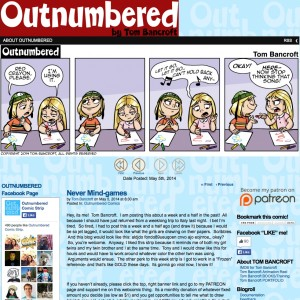 Outnumbered Comic before the redesign