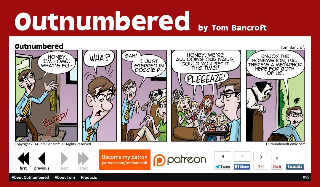Outnumbered Comic's New Look