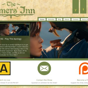 Gamers' Inn Website - Version 2, Launched in October 2014